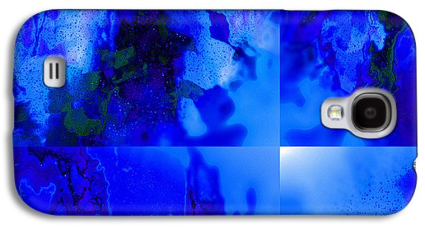 Blue Abstracts Tapestries - Textiles Galaxy S4 Cases - Canter da Blue Galaxy S4 Case by Laura Boyd