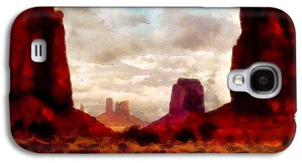 Photo Manipulation Paintings Galaxy S4 Cases - Canyon Panorama Galaxy S4 Case by Mario Carini