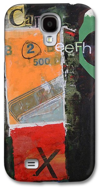 Cardboard Mixed Media Galaxy S4 Cases - Cap 10 Beefh art   -M- Galaxy S4 Case by Cliff Spohn