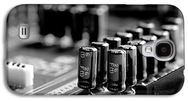 Component Photographs Galaxy S4 Cases - Capacitors All In A Row Galaxy S4 Case by Mike Eingle