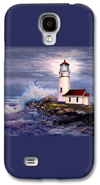Cape Blanco  Lighthouse On Rocky Shores Galaxy S4 Case by Regina Femrite
