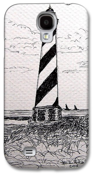 Historic Home Drawings Galaxy S4 Cases - Cape Hatteras Lighthouse NC Galaxy S4 Case by Julie Brugh Riffey