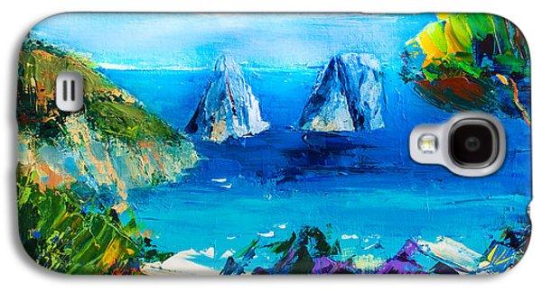 Mediterranean Landscape Galaxy S4 Cases - Capri Colors Galaxy S4 Case by Elise Palmigiani
