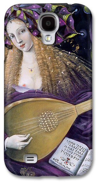 Lute Paintings Galaxy S4 Cases - Capricorn Galaxy S4 Case by Annael Anelia Pavlova