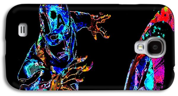Crime Fighter Galaxy S4 Cases - Captain America 02c Galaxy S4 Case by Brian Reaves