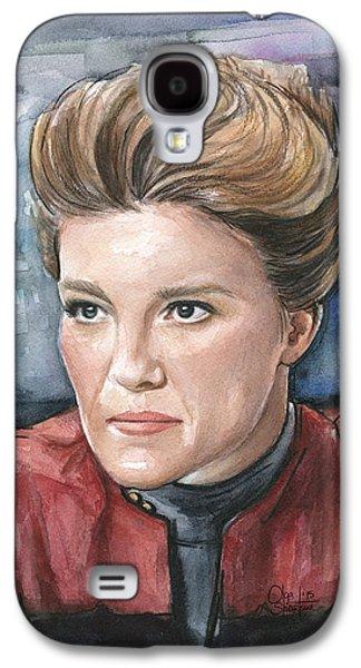 Star Trek Galaxy S4 Cases - Captain Kathryn Janeway Portrait Galaxy S4 Case by Olga Shvartsur