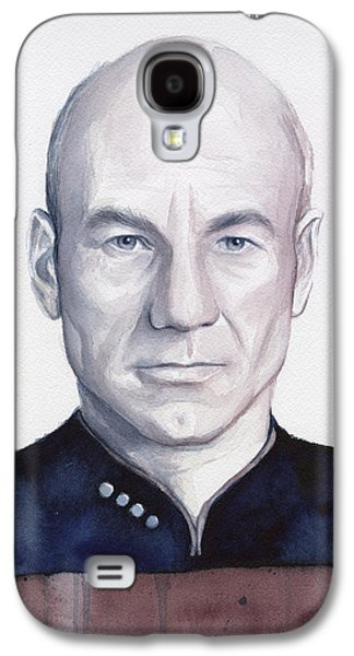 Enterprise Paintings Galaxy S4 Cases - Captain Picard Galaxy S4 Case by Olga Shvartsur
