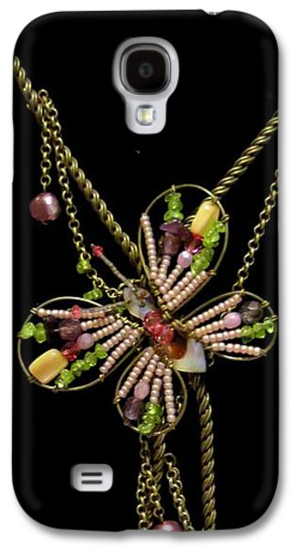 Original Jewelry Galaxy S4 Cases - Captured in Wire and Chain Galaxy S4 Case by Victoria Beasley