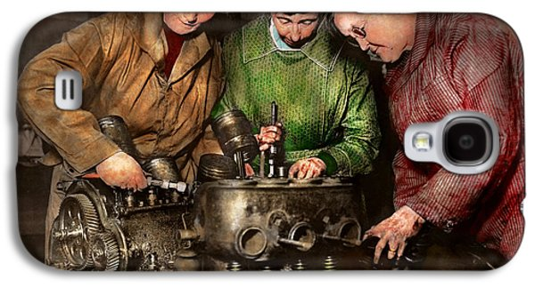 Car Mechanic - In A Mothers Care 1900 Galaxy S4 Case by Mike Savad