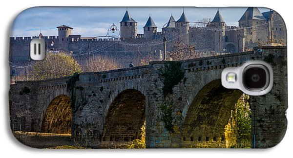 Cathar Country Galaxy S4 Cases - Carcassonne Galaxy S4 Case by Elly Schuurman