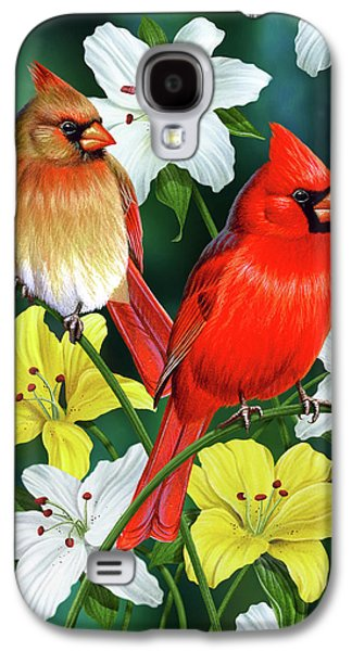 Plants Galaxy S4 Cases - Cardinal Day 2 Galaxy S4 Case by JQ Licensing