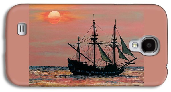 Pirate Ships Galaxy S4 Cases - Caribbean Pirate Ship Galaxy S4 Case by Susan DeLain