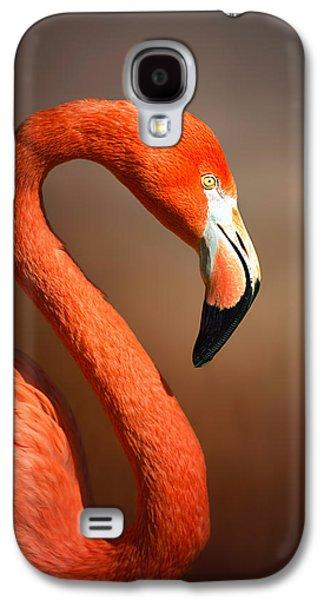 Caribean Flamingo Portrait Galaxy S4 Case by Johan Swanepoel