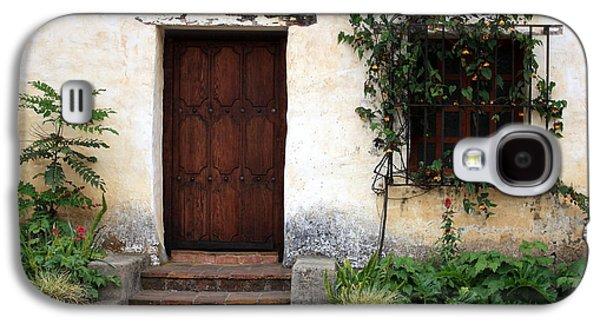 Element Photographs Galaxy S4 Cases - Carmel Mission Door Galaxy S4 Case by Carol Groenen