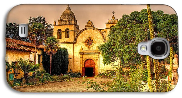 Buildings By The Sea Galaxy S4 Cases - Carmel Mission Galaxy S4 Case by Maria Coulson