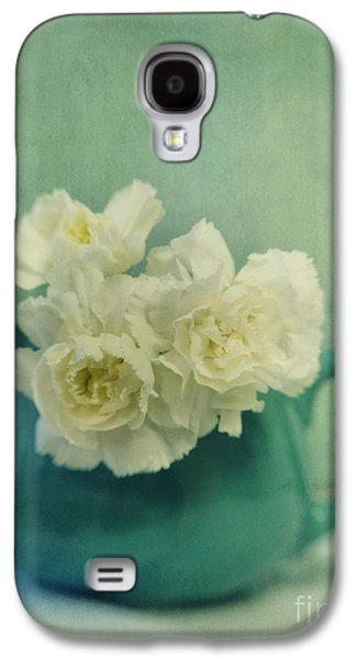 Tabletop Galaxy S4 Cases - Carnations In A Jar Galaxy S4 Case by Priska Wettstein