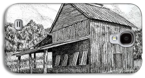 Shed Drawings Galaxy S4 Cases - Carolina Tobacco Shed Galaxy S4 Case by Peter Paul Lividini