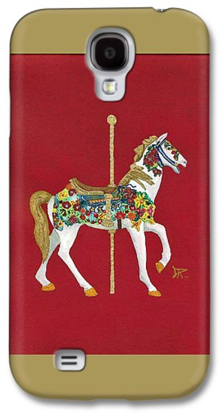 Carousel Horse Paintings Galaxy S4 Cases - Carousel Horse #2 Galaxy S4 Case by Donald Paczynski