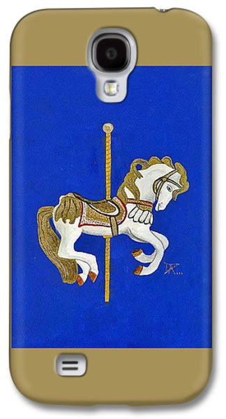 Carousel Horse Paintings Galaxy S4 Cases - Carousel Horse #3 Galaxy S4 Case by Donald Paczynski
