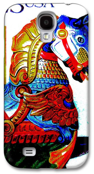 Carousel Horse Paintings Galaxy S4 Cases - Carousel Horses Galaxy S4 Case by Lanjee Chee
