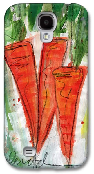Food And Beverage Mixed Media Galaxy S4 Cases - Carrots Galaxy S4 Case by Linda Woods