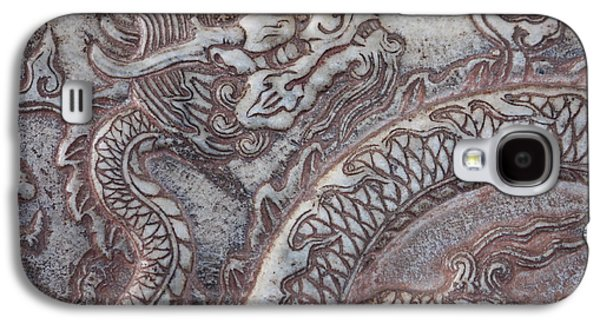 Dragon Greeting Cards Galaxy S4 Cases - Carved Dragon Galaxy S4 Case by Carol Groenen