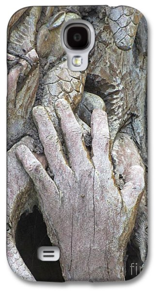 Weathered Reliefs Galaxy S4 Cases - Carving of Desperate Hand Galaxy S4 Case by John Malone