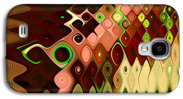 Abstract Digital Digital Galaxy S4 Cases - Cascade Galaxy S4 Case by Vicky Brago-Mitchell