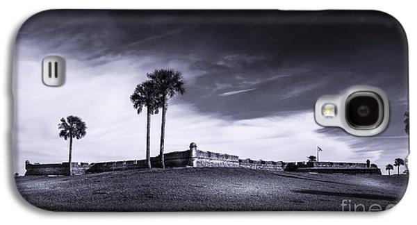 San Marco Galaxy S4 Cases - Castillo de San Marcos-b/w Galaxy S4 Case by Marvin Spates