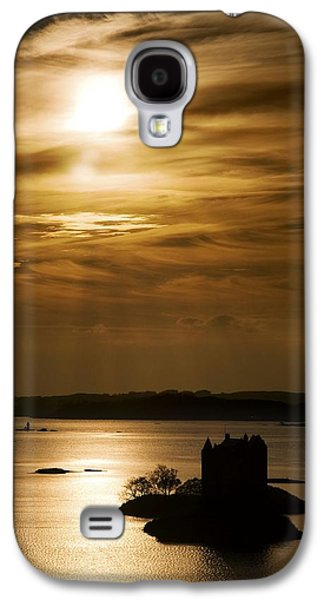 Peaceful Scenery Galaxy S4 Cases - Castle Stalker At Sunset, Loch Laich Galaxy S4 Case by John Short