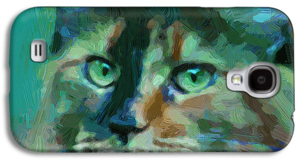 Colorful Abstract Galaxy S4 Cases - Cat and cat 2 Galaxy S4 Case by Yury Malkov