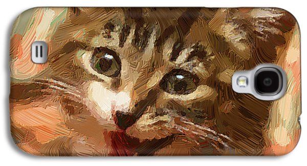 Colorful Abstract Galaxy S4 Cases - Cat and cat Galaxy S4 Case by Yury Malkov