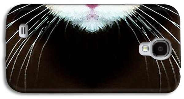 Fun Digital Galaxy S4 Cases - Cat Art - Super Whiskers Galaxy S4 Case by Sharon Cummings