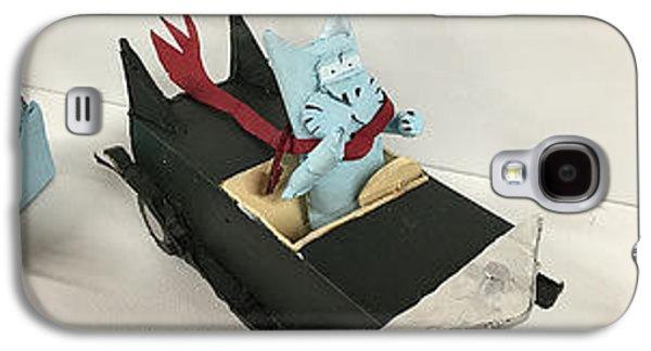 Bill Cat In Car Galaxy S4 Case by William Douglas