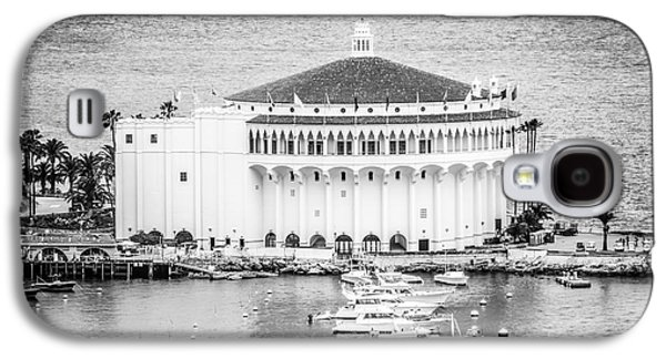 Historical Pictures Galaxy S4 Cases - Catalina Casino Picture in Black and White Galaxy S4 Case by Paul Velgos
