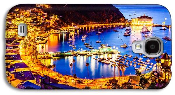 Catalina Island Avalon Bay At Night Galaxy S4 Case by Paul Velgos