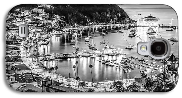 Catalina Island Avalon Bay Black And White Picture Galaxy S4 Case by Paul Velgos