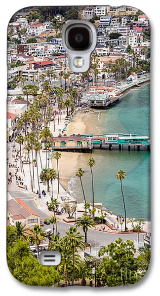 Catalina Island Avalon Waterfront Aerial Photo Galaxy S4 Case by Paul Velgos