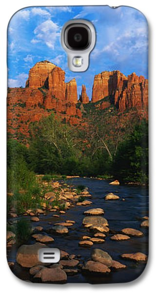 Cathedral Rock Galaxy S4 Cases - Cathedral Rock Oak Creek Red Rock Galaxy S4 Case by Panoramic Images