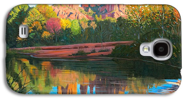 Cathedral Rock Galaxy S4 Cases - Cathedral Rock - Sedona Galaxy S4 Case by Steve Simon