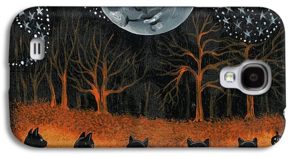 Recently Sold -  - Surreal Landscape Galaxy S4 Cases - Cats Dancing On Halloween Galaxy S4 Case by Margaryta Yermolayeva