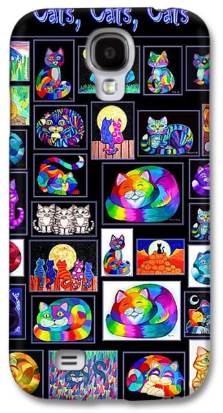 Cats Digital Art Galaxy S4 Cases - CatsCatsCats Galaxy S4 Case by Nick Gustafson