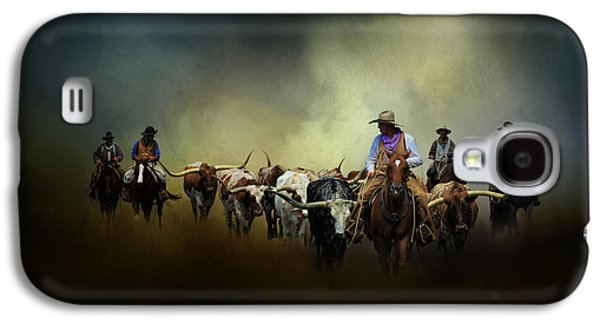 Cattle Drive Photographs Galaxy S4 Cases - Cattle Drive at Dawn Galaxy S4 Case by David and Carol Kelly