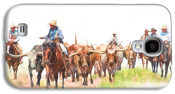 Cattle Drive Galaxy S4 Case by David and Carol Kelly