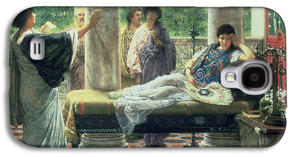 Catullus Reading His Poems Galaxy S4 Case by Sir Lawrence Alma Tadema