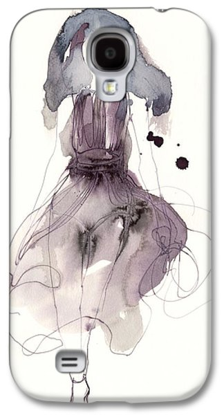 Purple Drawings Galaxy S4 Cases - Catwalk Galaxy S4 Case by Toril Baekmark