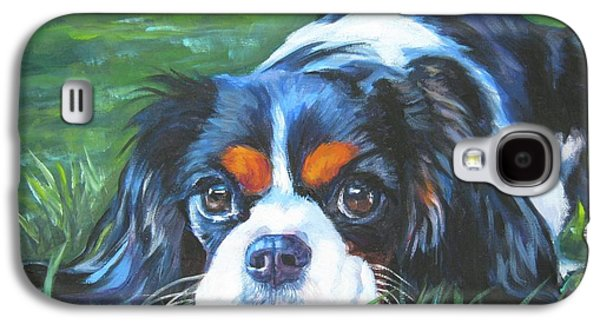 Cavalier King Charles Spaniel Tricolor Galaxy S4 Case by Lee Ann Shepard