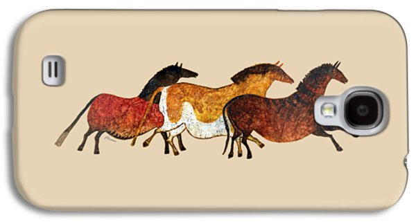 Cave Horses In Beige Galaxy S4 Case by Hailey E Herrera