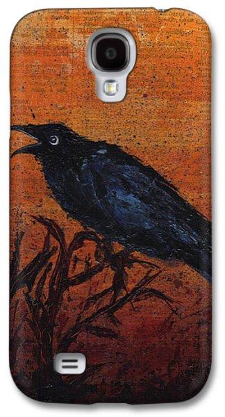 Caw Galaxy S4 Case by Cindy Johnston