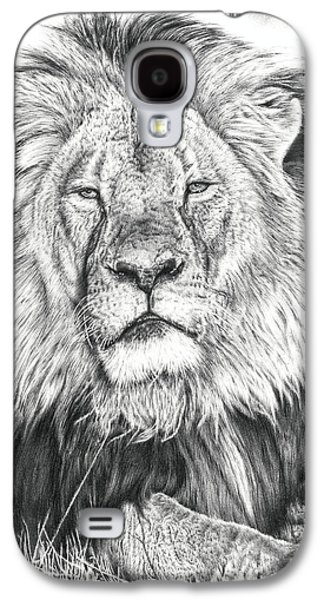 Icons Drawings Galaxy S4 Cases - Cecil The Lion  Galaxy S4 Case by Heidi Vormer